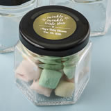 Baby Shower Personalized Metallics Collection small hex jar