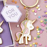 Adorable unicorn design keychain