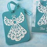 Turquoise Angel design luggage tag