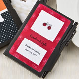Personalized Black notebook favors from the Personalized Expressions Collection