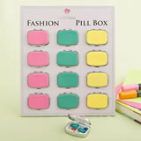 Fun vibrant colored Pill Box from Gifts By Fashioncraft