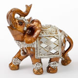 Mahogany with gold accents elephant - medium size