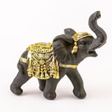 Ebony with gold accents elephant - small size