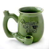 premium roast & Toast single wall mug - green with black print