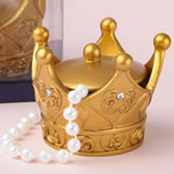 Gold crown trinket box with cover