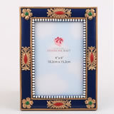 Magnificent Blue and gold ornate 4x6 frame