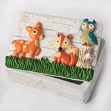 woodland animals covered box