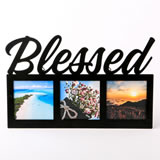 Religious Blessed metal frame - 3 openings - black