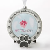 pet memorial ornament - you left paw prints on our hearts - pet memorial ornament - gift box