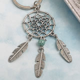 Dream catcher key chain in Southwest / American Indian design