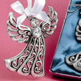 Silver Guardian Angel Ornament from Fashioncraft