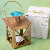 Personalized expressions collection Love lights the way luminous lantern in a  matte gold finish