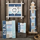4 Piece Nautical Theme Home Wall Gift Set