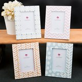 Delicate Pastel shaded 4 x 6 photo frames from gifts by fashioncraft
