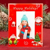 "Happy Holiday Red 4"" x 6"" glass frame"