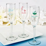 Personalized Champagne Flute Favors - Exclusive Baby Shower Designs