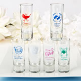 Personalized Shot Glass Favors 2oz - Exclusive Baby Shower Designs