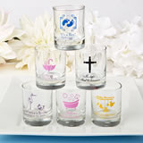 Personalized Votive / Shot Glass Favors - Baby Shower Exclusive Designs 3.5oz