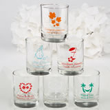 Personalized Wedding Votive / Shot Glass Favors - 3.5 oz with Exclusive Designs