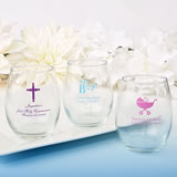 15 Ounce Stemless Wine Glasses - Exclusive Designs