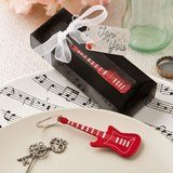 Classic red electric metal guitar key chain from fashioncraft