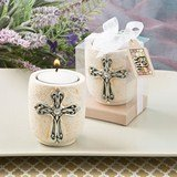 Religious Cross design candle tea light holder from fashioncraft