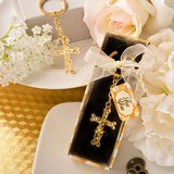 Memorial Dramatic Gold metal Cross with intricate intertwined design