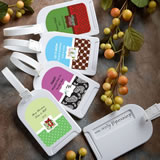 <em>Design Your Own Collection</em> Luggage Tag Favors - Holiday Themed
