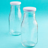 <em>Perfectly Plain Collection</em> Vintage Style Milk Bottles