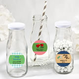 <em>Design Your Own Collection</em> vintage style milk bottles - Holiday Themed