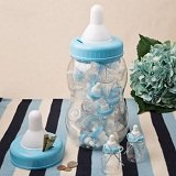 Perfectly Plain Collection Giant  blue baby bottle bank container