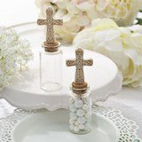 Perfectly Plain collection Candy Jar with Ivory Cross decoration