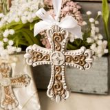 Religious Stunning vintage design cross ornament from fashioncraft