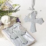 Silver Glitter design Cross Ornament from fashioncraft
