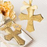 Gold Glitter design Cross Ornament from fashioncraft