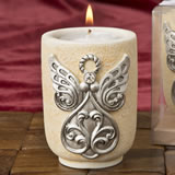 Large Angel Design Tea Light Candle Holder