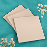 Bisque Style Ivory Ceramic Tile Coaster