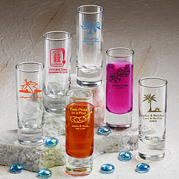 Personalized Wedding Shot Glasses - 2 oz