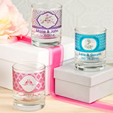 <em>Clearly Custom</em> Votive / Shot Glass Holder with Personalized Sticker - 3.5oz