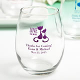 Personalized Stemless Wine Glass Wedding Favors - 9 Ounce: Exclusive Designs