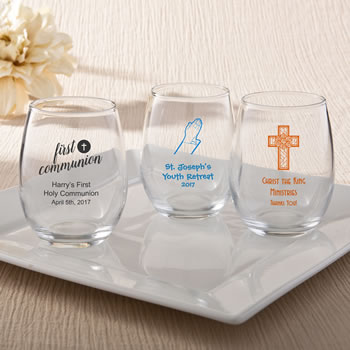 Personalized Stemless Wine Glass Wedding Favors 9 Ounce Nice