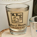 <em>Personalized Wedding Shot Glasses - 1 3/4 oz - Design Your Own Collection</em>