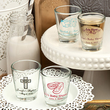 Personalized Shot Glasses for Baby Showers 1 3/4 oz