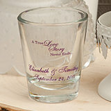 <em>Personalized Wedding Shot Glasses - 1 3/4 oz - Design Your Own</em>