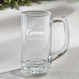 Glass Beer Mug 12.25 Oz From Fashioncraft - Grooms Design