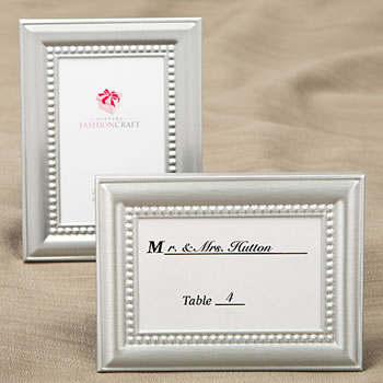 Decorative Brushed Silver Picture Frames with Beaded Inner border