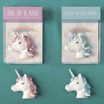Trendy Unicorn magnets from gifts by fashioncraft