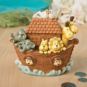Adorable Noah's Ark Bank/Centerpiece from gifts by fashioncraft