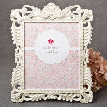Brushed Gold Baroque Ivory 8 x 10 Frame - Nice Price Favors