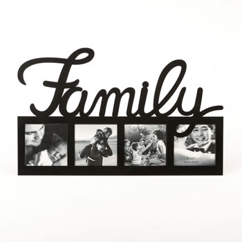Family large letter multi opening frame - Nice Price Favors